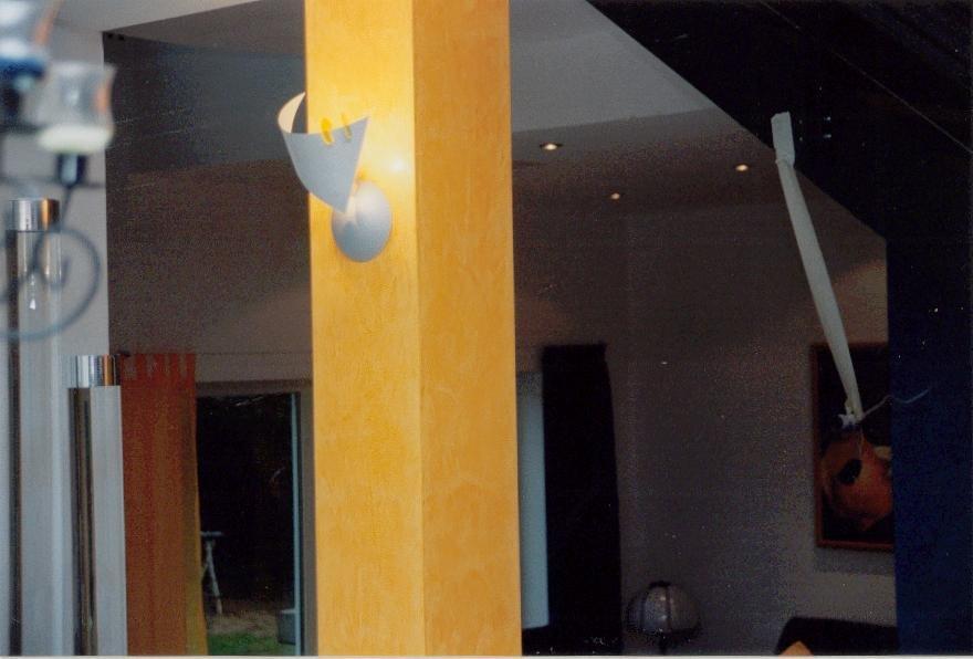 Moderne Säulengestaltung mit Glättetechnik
