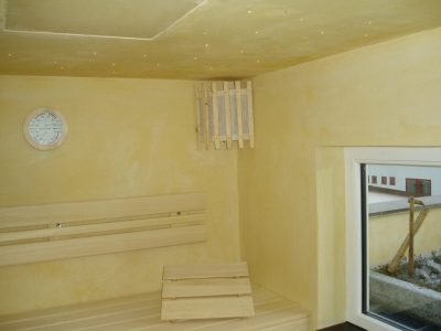 Sauna in Trockenbauweise