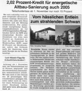 Dieser Artikel aus der Klimaschutz-Zeitung des Kreis Bergstraße befasst sich mit der von uns ausgeführten Sanierung eines Objektes in Bensheim.