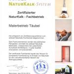 Zertifikat NaturKalk Fachbetrieb